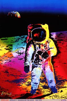 Walking on the Moon by Peter Max