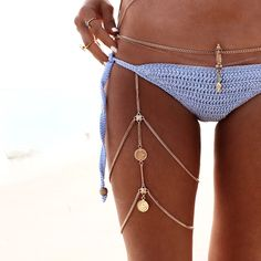 GypsyLovinLight: Nishka Leg Chain – Gold