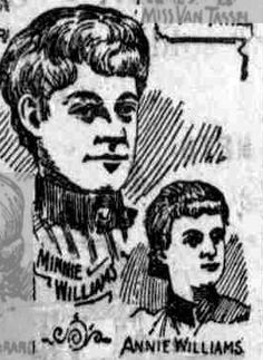 Minnie and Nannie Williams, presumed Holmes victims, 1893 or 1894.