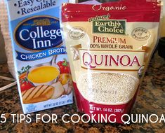 MY NEW FOOD DISCOVERY!!!!!   YUM.  Tips for cooking quinoa     Quinoa, pronounced KEEN wah