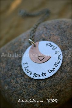 I Love you to the Moon and Back Metal Stamped by ArtisticSoles, $30.00