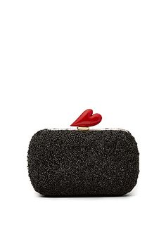 Love Crystal Minaudiere In Black