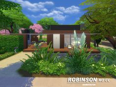 Sims 4 Updates: TSR - Houses and Lots, Residential Lots : Robinson ecological modern house by Danuta720, Custom Content Download!