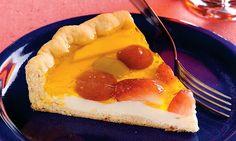 Torta de Frutas Diet Outra opção é trocar a gelatina para sabor morando e enfeitar com morangos para virar uma torta de morango.