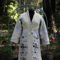 Up-cycled  Woollen Sweater Coat. by ButterflySongStudio on Etsy