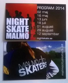 Malmö City Skaters first business cards 2014