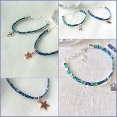 Adorable skinny floral bracelet, in liberty print. Fabulous friendship bracelets, for the boho girl