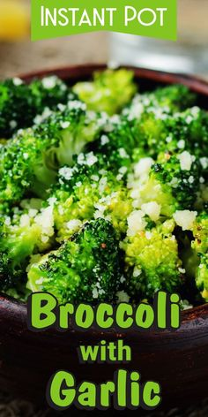 This recipe comprises of just the right mixture of garlic and broccoli, and is very easy to make. You can use frozen broccoli too. Just follow the instructions of the recipe.     #instantpot #recipe #corriecooks