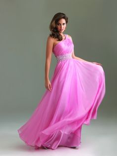 #NightMoves 6475 Pink Prom Dress!  One Shoulder Prom Dress! #prom #promdress #InternationalProm #Prom360