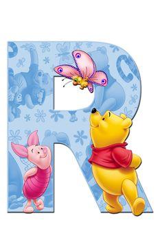 Winnie The Pooh Pictures, Cute Winnie The Pooh, Winnie The Pooh Birthday, Winnie The Pooh Friends, Disney Alphabet, Alphabet Art, Monogram Alphabet, Pooh Baby, Minnie Mouse Images