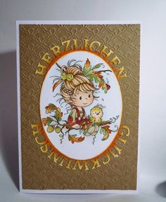 blog.karten-kunst.de - Der Herbst ist da. Wee Stamps – Oak Tree Girl Stempelkissen: – Memento Tuxedo Black Schablone: Crafts Too Hintergrund-Prägeschablone – Scalloped Pattern, Karten-Kunst Stanzschablonen – Kreistext Glückwunsch, Spellbinders Nestabilities – Classic Ovals Large
