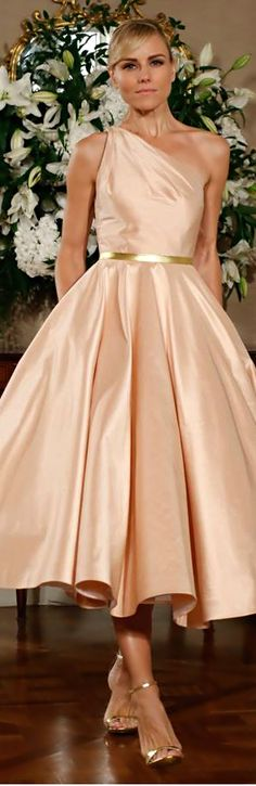 Romona Keveza blush cocktail dress what cute bridesmaids dresses these would be. Blush Cocktail Dress, Cocktail Dresses, Peach Gown, Yellow Gown, Short Dresses, Formal Dresses, Casual Dresses, Creation Couture, Bridesmaid Dresses