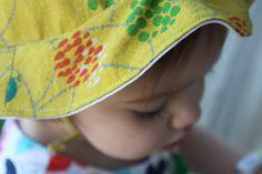 Summery Sun Hat Pattern at Prudent Baby Baby Sun Hat, Baby Hats, Hat Patterns To Sew, Sewing Patterns, Sewing For Kids, Baby Sewing, Hat Tutorial, Summer Hats, Summer Sun