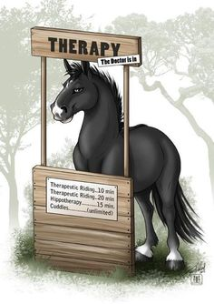 I love this. Horses make great therapists. I can't wait to help people with horses!