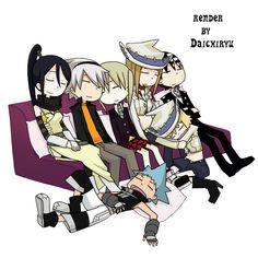 death the kid and patty kiss | Render de Daichiryu