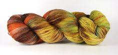 """Handgesponnen & -gefärbt - """"Sommersprossen"""" Trekking Tweed 4fach, handgefärbt - ein Designerstück von faserbunt bei DaWanda"""