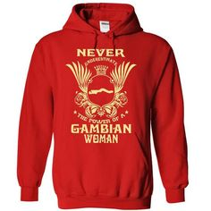Never Underestimate the power of a Gambian woman - Limi - #hoodie #navy sweatshirt. LOWEST SHIPPING:  => https://www.sunfrog.com/LifeStyle/Never-Underestima-the-power-of-a-Gambian-woman--Limited-Edition-4376-Red-16597822-Hoodie.html?60505
