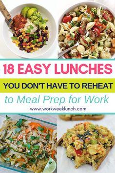 no reheat meal prep recipes and ideas