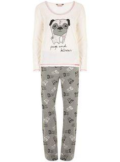 Cream pug character pyjamas - Gifts  - Accessories
