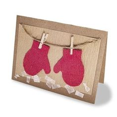 The Adorable Drying Mittens Card | 49 Awesome DIY Holiday Cards
