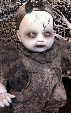 Baby Grace, Creepy OOAK Reborn,Horror, gothic Doll
