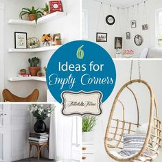 Learn how to decorate those empty corners! 6 ideas that will fill the help complete the look of the room without taking up too much space.