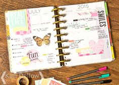 Kim Dellow:  Planner Obsessed! I've got the MAMBI Happy Planner, what planner are you using?