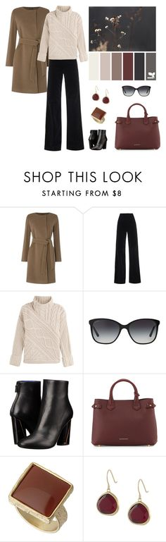"""Earth Tones and Dark Red"" by dezaval ❤ liked on Polyvore featuring Lauren Ralph Lauren, AG Adriano Goldschmied, Polo Ralph Lauren, Bulgari, Proenza Schouler, Burberry, Dorothy Perkins and Karen Kane"
