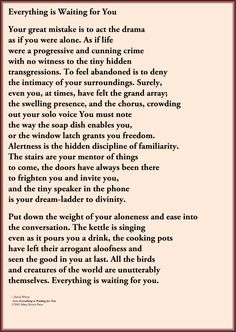 everything is waiting for you poem image - Google Search