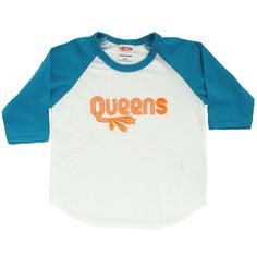 These comfy Queens raglan tees are hand printed right in Queens with water based ink. Kids are sure to stand out on the playground in these