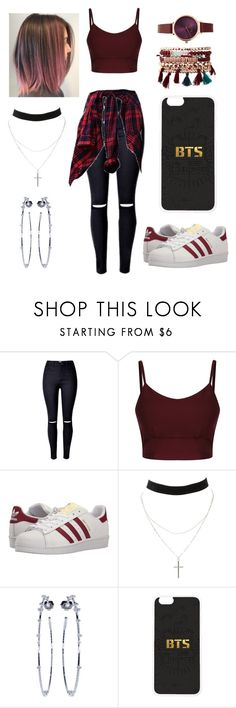 """Untitled #346"" by sratuankl ❤ liked on Polyvore featuring adidas Originals, Charlotte Russe, Mattia Cielo and Jessica Carlyle"