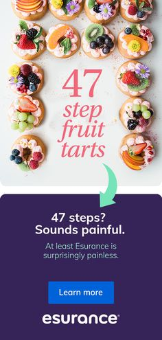 Start a fast, free auto insurance quote with Esurance. Fruit Recipes, Desert Recipes, Snack Recipes, Cooking Recipes, Healthy Desserts, Delicious Desserts, Yummy Food, Yummy Treats, Appetizers