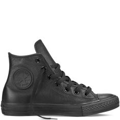 Chuck Taylor All Star Leather Black Mono black mono, £60.00 size 10