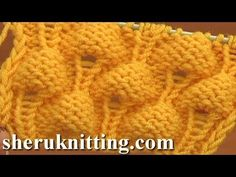 Knitting Strawberry Stitch Pattern Tutorial 13 Knit Stitch Pattern Library – Knitting patterns, knitting designs, knitting for beginners. Chunky Knitting Patterns, Knitting Stiches, Knitting Videos, Knitting Designs, Knit Patterns, Knitting Projects, Crochet Stitches, Baby Knitting, Stitch Patterns