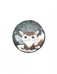 SB0003 Foxy friend Original Art Watercolor by StarBubbleStudio