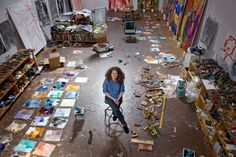 American painter Dana Schutz has previously worked in close proximity with other artists, so it is a shock to find her ensconced in her own space, a former garage in the Gowanus area of Brooklyn, New York.