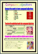 here are easy activites to consolidate compound adjectives use