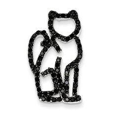 Black & white Cat Pendant