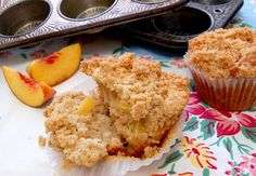Muffin crujiente de durazno. #MagnoliaBakery #Durazno #Muffin