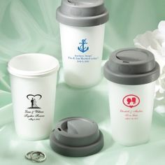 Personalized Reusable Travel Coffee Cups