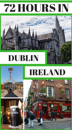 How long should you stay in Dublin Ireland? The perfect amount of time is 72 hours (3 days) in Dublin Ireland. While you should spend more than a weekend in Dublin if you have time, that's not always possible. This itinerary will show you how to make the most out of your time there. You'll visit some of the most famous places in the city while also going to lesser-known areas Click to read 3 Days in Dublin – Things to Do in Dublin, #Ireland #Travel #Guide #Dublin #TravelTips #Itinerary