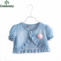 Cheap clothes mannequin, Buy Quality clothes large directly from China clothes and the man Suppliers: Lovely denim jacket girls clothes design for summer baby girl coat short-sleeve girls cardigan girls cape Clothes Mannequin, Doll Clothes, Baby Girl Dress Patterns, Baby Dress, Little Girl Dresses, Girls Dresses, Cardigan Floral, Girls Cape, Girls Denim Jacket