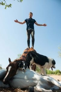 One such person is Santi Serra, who has taken his natural raw passion and deep connection with his horses and other animals to another Ibiza Fashion, Camps, Horses, Dogs, Nature, Style, Animales, Swag, Naturaleza