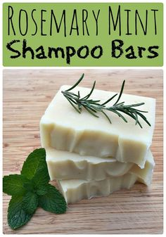 Learn how to make these awesome homemade rosemary mint shampoo bars! Making your own homemade soap or shampoo bars is so much easier than you think! Mint Shampoo, Shampoo Bar, Homemade Shampoo, Homemade Facials, Homemade Conditioner, Homemade Deodorant, Hair Conditioner, Homemade Soap Recipes, Deodorant Recipes