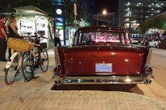 Cruising the Boulevard |   Modes of transportation on South Miami Avenue at Mary Brickell Village    | #Brickell, #CityDailyPhoto, #Classiccars, #FridayNight, #Miami, #Miamidailyphoto, #Photooftheday | http://www.miamidailyphoto.com/2016/random/cruising-the-boulevard/ from Miami Daily Photo