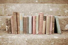 pastel vintage books
