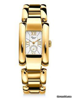 "Chopard- ""La Strada""-$14,000- Chronograph yellow gold case with yellow gold bracelet and quartz movement."