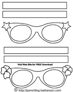 halloween craft templates | Halloween Coloring Mask, Funky Eyeglasses