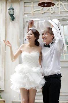 Leeteuk and Kang Sora