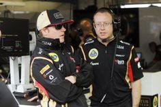 Kimi with Race engineer Mark Slade - Saturday - Monaco GP